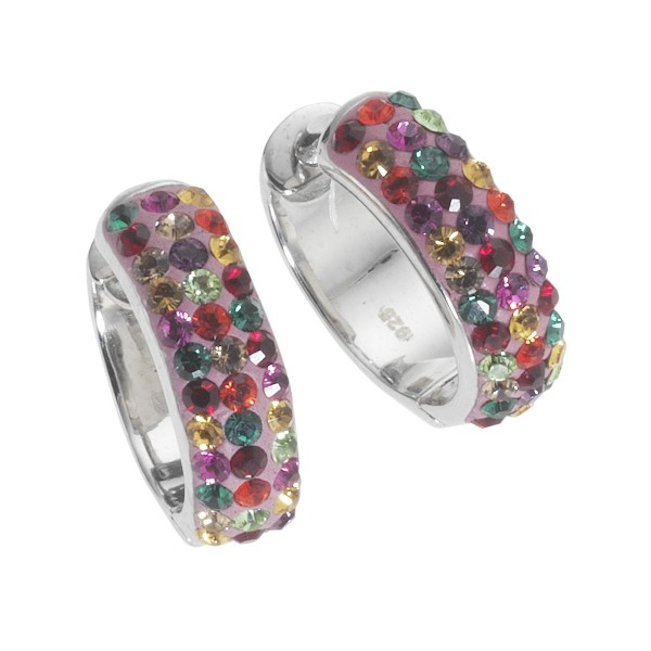 Crystelle - Creolen 5mm Swarovski Kristalle multi