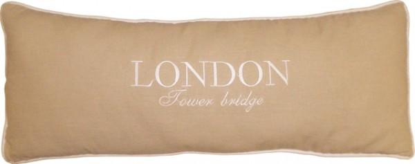 "Beauty.Scouts Kissen Zierkissen ""London Tower Bridge"" 25x70x14cm creme"