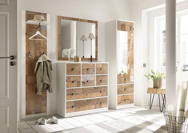garderoben set bourbon iii 4 tlg schrank kommode spiegel paneel old fashion nachbildung. Black Bedroom Furniture Sets. Home Design Ideas