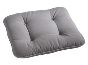 """Polsterauflage Sesselauflage Stuhlauflage """"Bianca grau"""" eckig 48x48x9cm"""