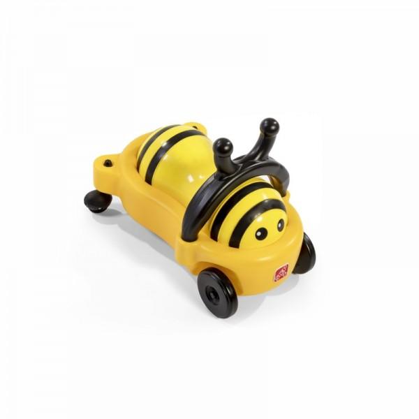"Kinderbuggy ""Bee"" in gelb-schwarz aus Kunststoff 58x32x33cm Rutschauto"