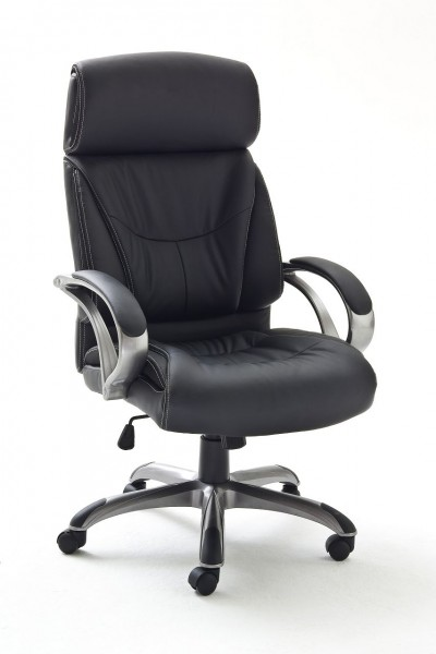 "Chefsessel ""Leans"" schwarz, 66x103x72cm, Sitzhöhe 46-52 cm"
