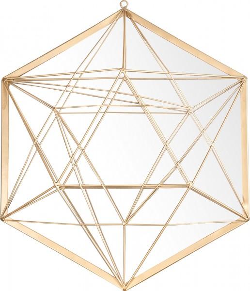 """Spiegelprofi 61124606 Metallspiegel Franka X Wandspiegel """"Liliane"""" , gold, mit Streben, ca. 40 x 40cm Spiegel"""