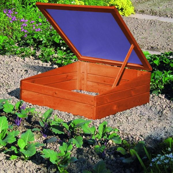 """Frühbeet """"Ina I"""", Kiefer, 70 x 70 x 19/28 cm, Gartenbeet, Gartenfrühbeet, Anzuchtbeet, Garten"""