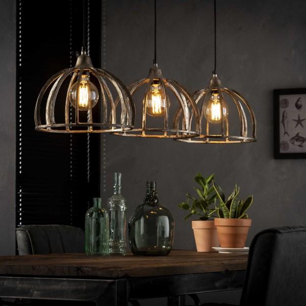 """Hängelampe """"Norton"""" 3 Lampenschirme Nickelfarbe (B/T/H) Deckenbeleuchtung Zijlstra"""