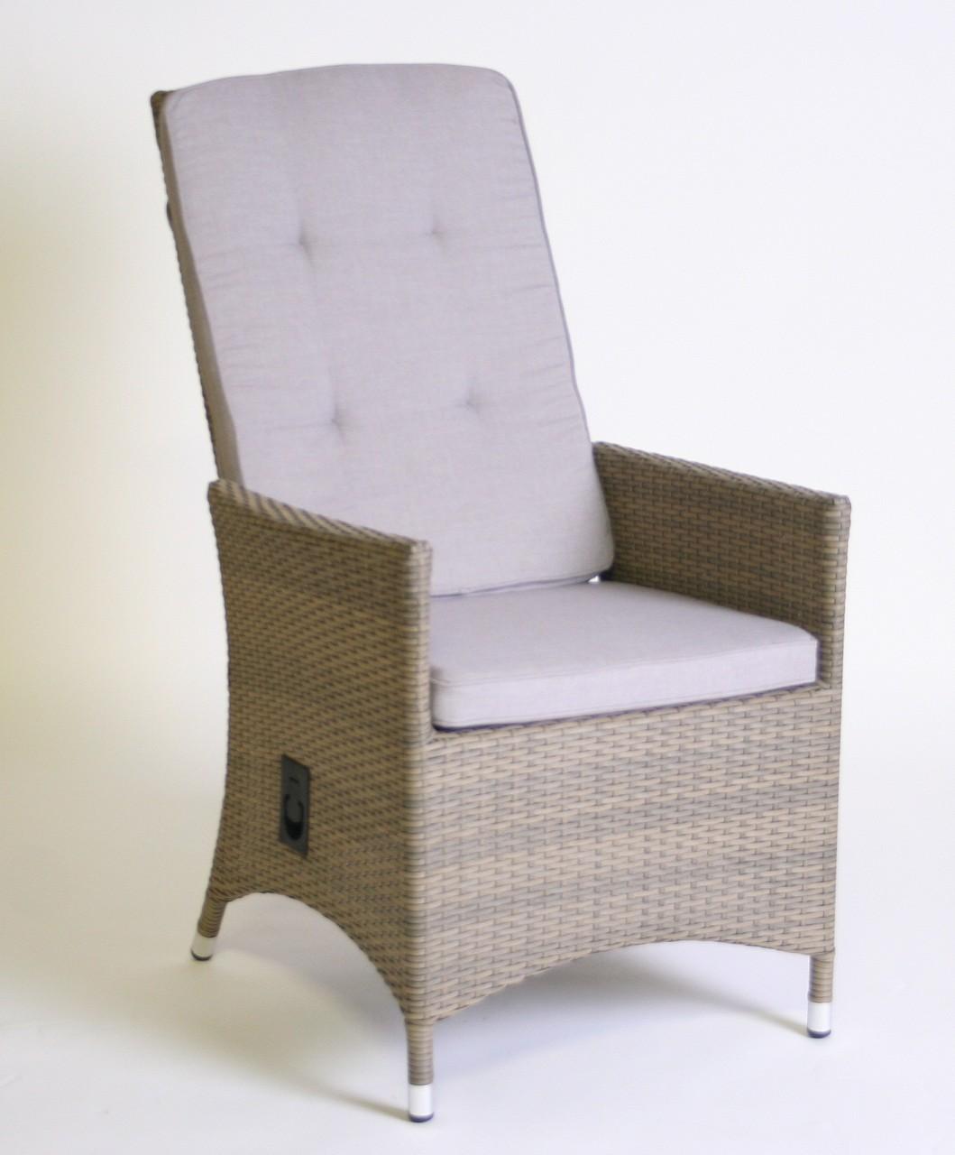 hochlehner throne relaxer inkl polster gartensessel rattan braun beige verstellbare. Black Bedroom Furniture Sets. Home Design Ideas