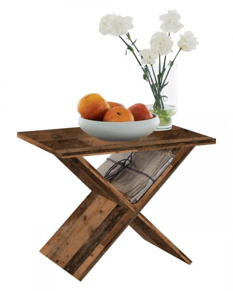 """Beistelltisch """"Marina"""" Old Style dunkel in 54,5x43x38,5cm Anstelltisch Tisch Beistelltisch"""