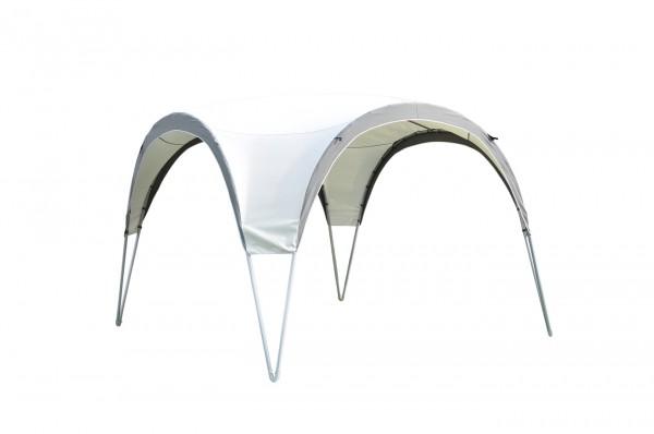 "Pavillon ""Space"" silber grau Polyester 300x300x235cm Sonnendach Dach Partyzelt"
