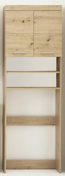 """Waschmaschinenschrank """"Ludwig"""", 63 x 187 x 24 cm, Asteiche Dekor, Badezimmerschrank, Badezimmer"""