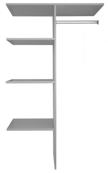 """Wäscheeinteilung, komplett """"Plus"""" grau, für Schränke ab 2m Höhe, Rastermaß 110cm, 110x150x50cm"""