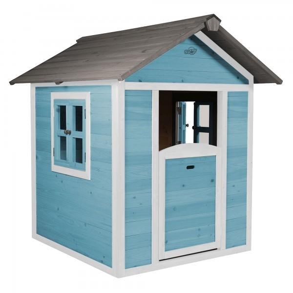 """Holzspielhaus """"Sun"""" 102x94x133cm aus Holz in blau-weiß"""