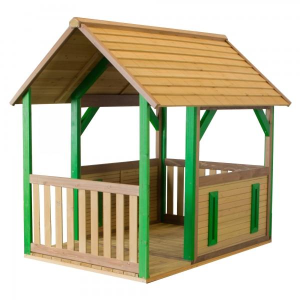 """Holzspielhaus mit Veranda """"Tyr"""" 172x118x178cm aus Zedernholz in braun Unterstand"""