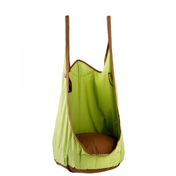 """Schaukelsack """"Elli"""" für Innen und Außen grün braun aus Baumwolle 55x75x135cm"""