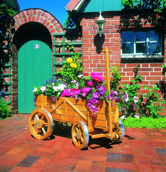 """Deko-Bollerwagen """"Maike"""" honigbraun imprägniert 104x49x51cm Gartendekoration"""