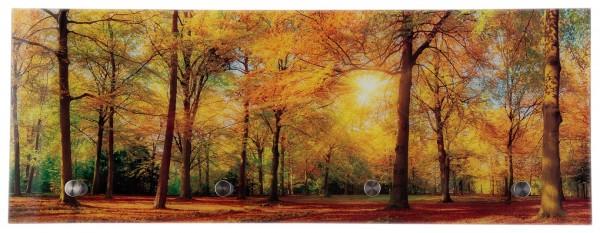 """Spiegelprofi 76305035 Glasgarderobe TOBI """"Herbstausflug"""", 30x80x6 cm, Garderobe, Kleiderhaken"""