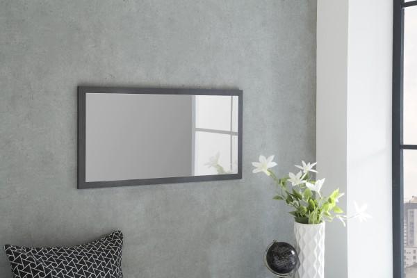 """Spiegel """"Peter 2"""", graphit, 76 x 38 x 2 cm, mit Rand, Spiegelfläche 71 x 33 cm"""