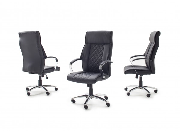"Chefsessel ""GOLO"" schwarz, 63 x 120 x 69 cm, Drehsessel, Bürosessel, Bürostuhl"