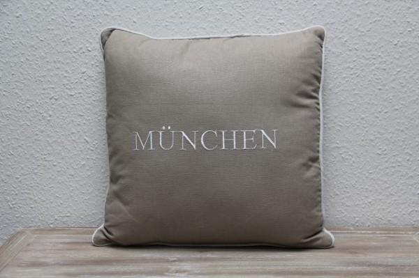 """Beauty.Scouts Kissen Zierkissen """"München"""" 45x65x14cm beige"""