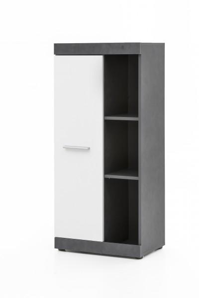 """Anstellschrank """"Amandus"""", graphit/weiß, 50 x 114,5 x 32,5 cm, Wohnzimmer, Wohnzimmerschrank, Schrank"""