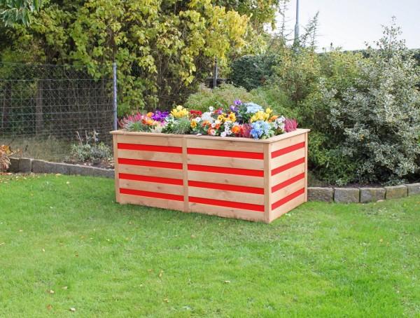 "Hochbeet ""Melina"", honigbraun/rot, 150 x 75 x 84 cm, Gartenbeet, Gartenhochbeet, Garten"