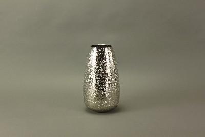 "Vase ""Standards & Lights"" aus gehämmerten Aluminium, vernickelt, H 31 cm"