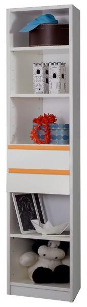 """Orange, Regal """"Donkey"""",Standregal, Alpinweiss, verschiedene Designs, 47x197x40 cm"""