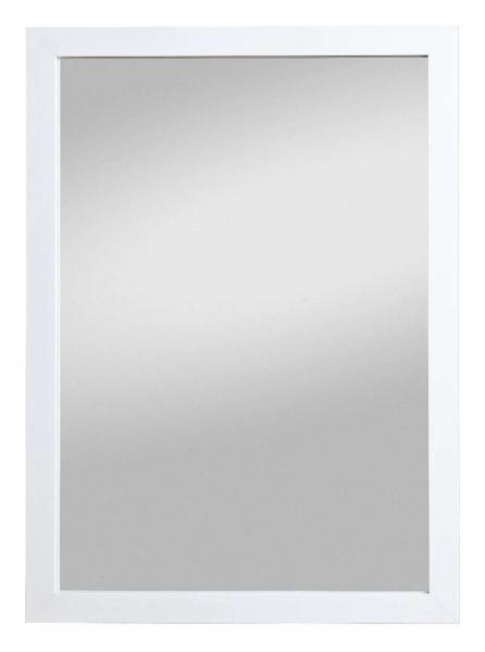 Wandspiegel Badspiegel Rahmenspiegel Nigeria Weiß glanz (HxB) 68 x 48 cm