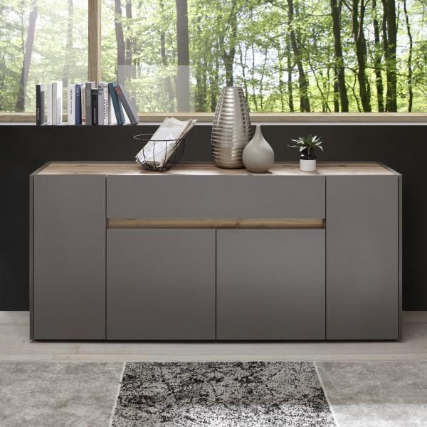 """Sideboard """"Quentin"""", anthrazit/Wotan Eiche NB, 170 x 85 x 40 cm, Wohnzimmer, Schrank, Möbel"""