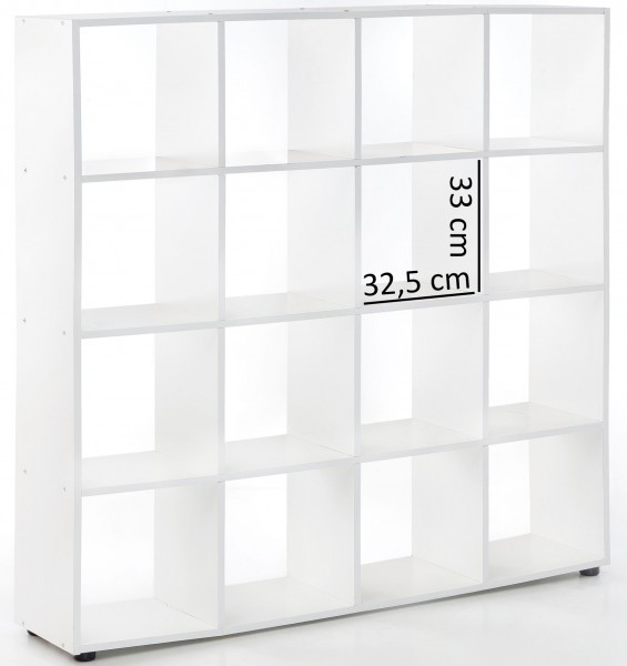"""Bücherregal """"Jade"""" weiß Melaminharzschicht 138x142x29cm"""