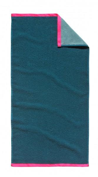 "Tom Tailor Handtuch 2er-Set ""Oskar"", 50 x 100 cm, petrol, Badezimmerhandtuch, Badezimmer"
