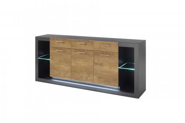 "Sideboard ""Ben"" Kastanie Dekor/ Fresco 198x83x43cm Board Stauraumelement Lowboard"