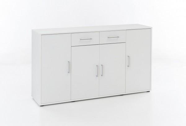 """Kommode """"Tammy"""", weiß, 143 x 85 x 37 cm, 4 Türen, 2 Schubladen"""