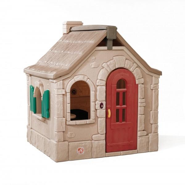 """Kinderspielhaus """"Linus"""" aus Kunststoff 128,3x139,7x163,2cm braun"""