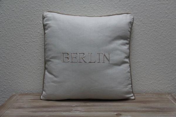 """Beauty.Scouts Kissen Zierkissen """"Berlin"""" 45x65x14cm weiß"""