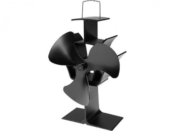"Kaminventilator ""Ahna"" schwarz 17,2x11,7x24,7cm Ventilator Stromlos Ofenventilator"
