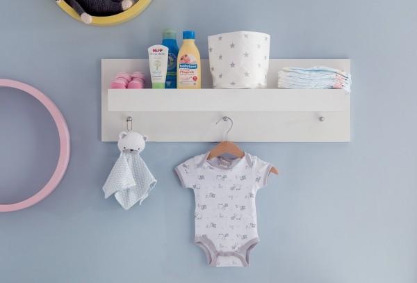 Wandboard Sandy Weiss Wandregal Kinderzimmer Babyzimmer 75 X