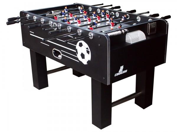 """Fußballtisch """"Zidane"""" aus Holz in schwarz 140x74x88cm Tischfussball Kicker"""