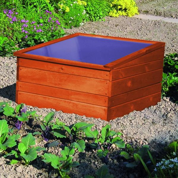 """Frühbeet """"Ina I"""", Kiefer, 70 x 70 x 19/28 cm, Gartenbeet, Gartenfrühbeet, inkl. Unterkasten, Garten"""