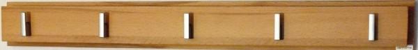 """Garderobenleiste massive Kernbuche """"Ean"""" 80x9x8 cm"""