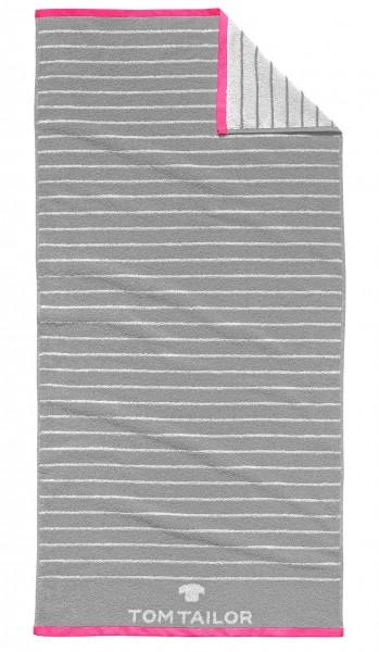 """Tom Tailor Duschtuch """"Anke"""", 70 x 150 cm, silber, Badezimmerduschtuch, Badezimmer"""