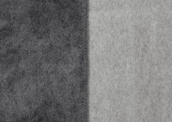 Uni Decke Sorrento Double face grau/silber
