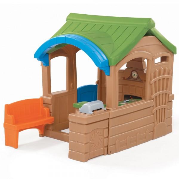"""Kinderspielhaus """"Lui"""" aus Kunststoff 182,9x130,8x149,9cm braun"""