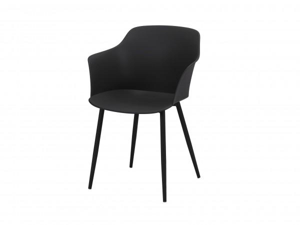"""Zijlstra 3645-60 Lederfarbe Schalensitz Kunststoff VPE 4 4er Set Schalensitz """"Tory"""" Lederfarbe Pulverbeschichtung 59x51x82cm (B/T/H) Schalenstuhl Stuhl"""
