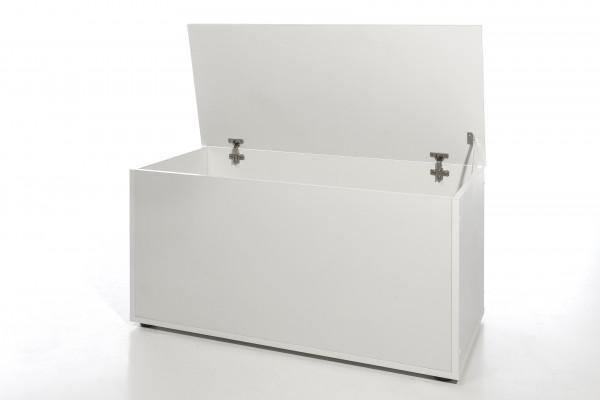 """Truhe """"Moni 2"""", weißes Dekor, mit Klappe, viel Stauraum, 84 x 46,5 x 42 cm"""