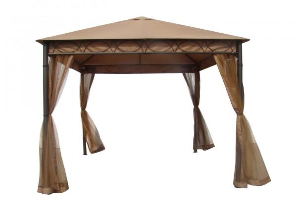 "Pavillon ""Samba"" nougat altkupfer Polyester 300x300x280cm Sonnendach Dach"