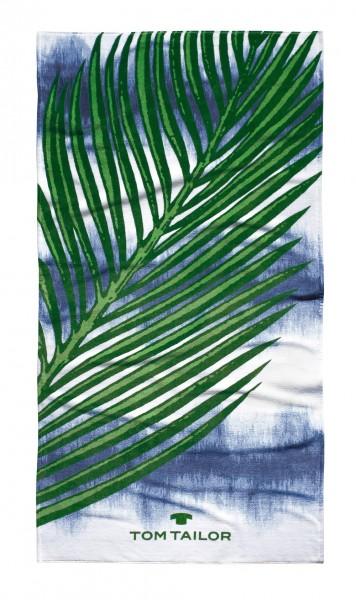 "Tom Tailor Strandtuch ""Palmen"", 85 x 160 cm, ocean blue, Saunatuch, Duschtuch, Badetuch, Badezimmer"