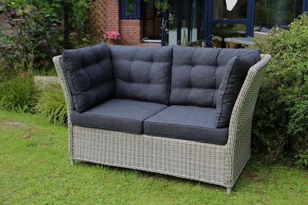 "2er Gartenbank Sofa ""Ray"" (B/L/H) 152x78x86 cm Bank Sitzbank Gartensofa anthrazit"