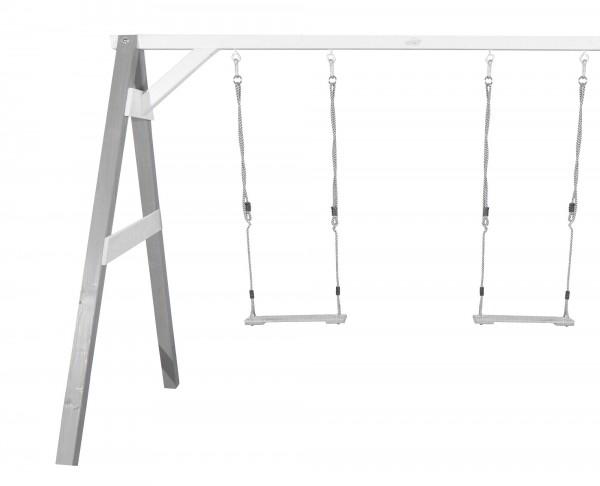 """Doppelschaukel """"Allegra 2"""" aus Hemlock-Holz in grau 160x254x207cm Schaukel"""