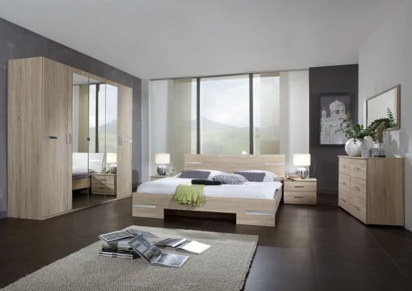 """Schlafzimmerkombination """"Flink Grande II"""", 5-tlg Möbel-Set, Eiche sägerau Nachbildung"""