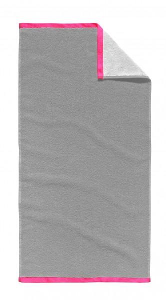 """Tom Tailor Handtuch 2er-Set """"Oskar"""", 50 x 100 cm, silber, Badezimmerhandtuch, Badezimmer"""
